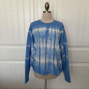 Wild Fable Blue Oversized Tie Dye Sweatshirt